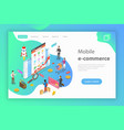 isometric flat concept of mobile vector image vector image