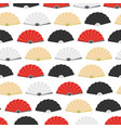japanese folding paper fan seamless pattern vector image vector image