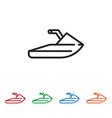 jet ski icon vector image vector image