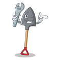 mechanic shovel character cartoon style vector image