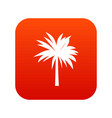 palm icon digital red vector image