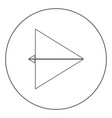 paper airplane black icon in circle isolated vector image vector image