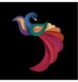 peacock colored birds a modern vector image vector image