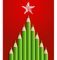 Pencils Christmas Tree vector image