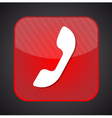 Phone icon - red app button vector image vector image