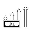 profit growth line vector image vector image