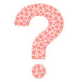 question mark mosaic of star pentagram icons vector image vector image