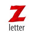 Red logo creative letter Z vector image vector image