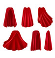 red robes realistic set vector image vector image