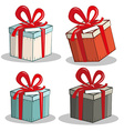 Retro Gift Boxes Set vector image vector image
