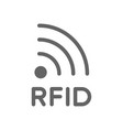 rfid word and radio frequency identification line vector image