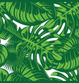 seamless pattern with colored tropical leaves vector image