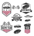 set car racing labelsicons and design vector image