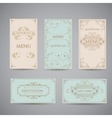 Set of Art Deco Frame Elegant Border Flourishes vector image vector image