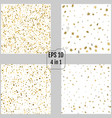 set of stream gold stars on a white backgrounds vector image
