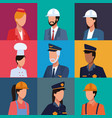 set of workers profile vector image vector image