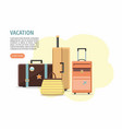 set travel suitcases on white background vector image vector image