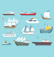 ships at sea shipping boats ocean transport vector image vector image