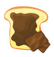 slice of bread or toast with brown sweet vector image vector image