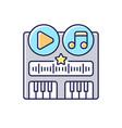 soundtrack rgb color icon vector image