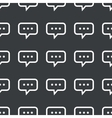 Straight black typing message pattern vector image vector image