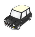 super deformed mini car vector image