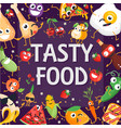 tasty food - modern colorful vector image