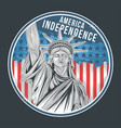 usa independence day liberty statue america artwor vector image