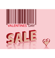 valentines sale vector image vector image