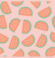 watermelon slices background seamless pattern vector image