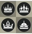 White crown icons on black background for chess vector image vector image