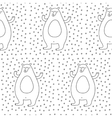 Winter Bear Seamless Pattern vector image vector image