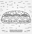 thin line icon hot dog For web design and vector image