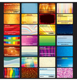 Set of Abstract Business Cards vector image