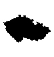 Map of the Czech Republic vector image