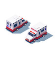3d isometric ambulance medical car for first aid vector image vector image