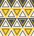 abstract geometric pattern yellow triangles vector image