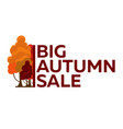 autumn trees logo big autumn sale vector image