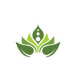 beauty lotus flower icon vector image vector image