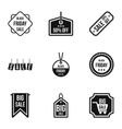 Black friday icons set simple style vector image vector image