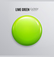 blank lime green glossy badge or button vector image