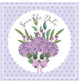 bouquet flowers leaves nature decoration wedding vector image vector image