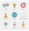 Business creative color line icons vector image