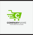 business logo modern shopping initial c vector image