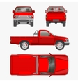 car pickup truck vector image vector image