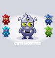 cartoon bathree-eyed monster in vector image vector image
