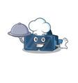 cartoon design vr virtual reality as a chef vector image vector image