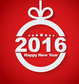 Christmas ball with text inside Happy New Year vector image