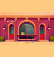 city cafe coffee house exterior with bar counter vector image vector image