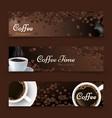 coffee background realistic coffee top view vector image vector image